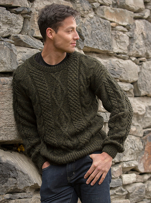 Olive Soft Alpaca Sweater - Trevelin