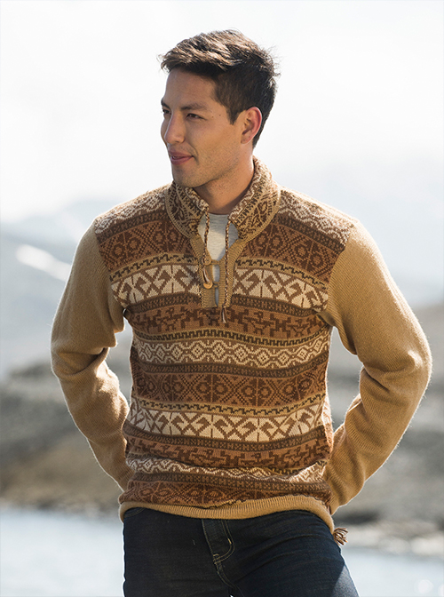 Brown Alpaca Sweater - Pampa
