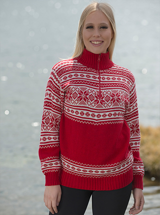 Red alpaca sweater - Stockholm