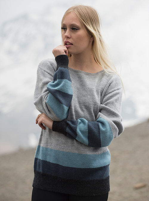 Gray Soft Alpaca Sweater - Titicaca