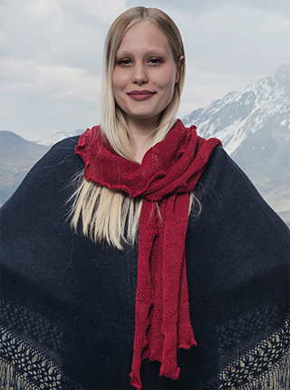 Red Soft Alpaca Scarf - Tefir