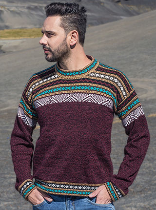 Burgundy Alpaca Sweater