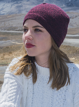 Burgundy Alpaca Hat