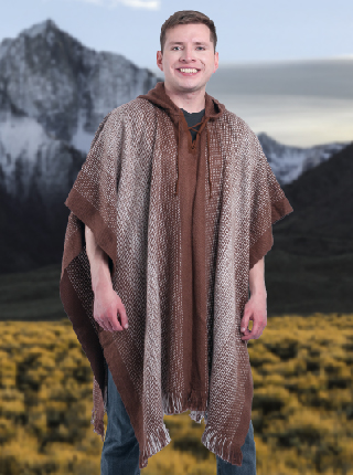 Brown Soft Poncho Alpaca - Saltillo