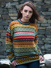 Multicolored Alpaca Sweater
