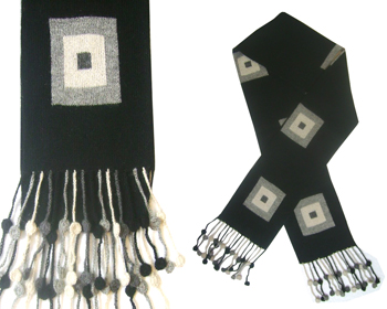 Coca Scarf with Squares