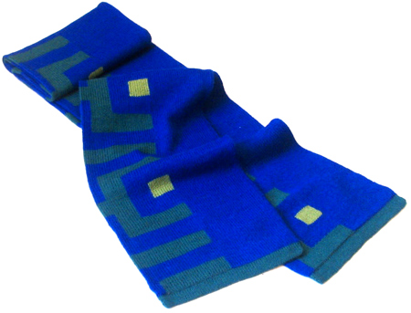 Labyrinth Blue Scarf