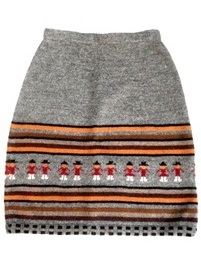 Gray Andean Figures Skirt