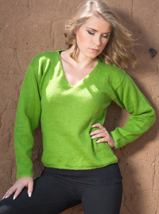 V Neck Solid Color Sweater