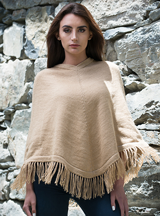 Smooth Poncho - Natural Beige