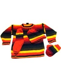 Multicolored Winter Set  (ages 2 to 3)