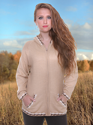 Light Brown Sweater with Hood