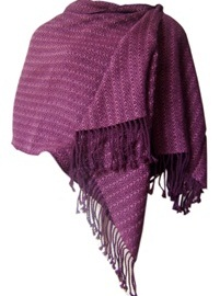 Purple Alpaca Shawl