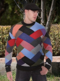 Multicolor Squares Sweater for Men