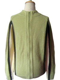 Lemon Green Sweater with Zipper