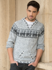 Gray Kangaroo Melange Sweater