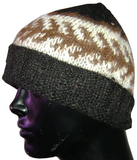 Dark Brown Alpaca Cap