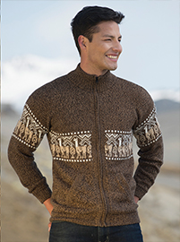 Melange Jacket with Llamas Designs