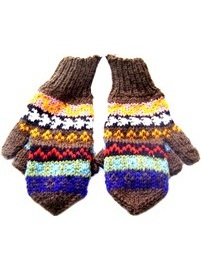 Sheep Wool Mittens - Gloves