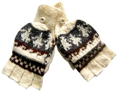 Gloves - Mittens White