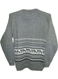 Gray Sweater - Llamitas Decoration