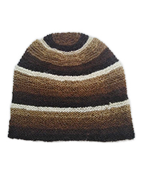 Hand Knitted Cap - Brown Shades