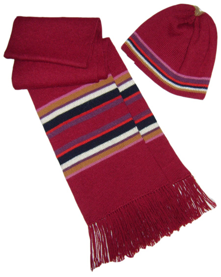 Red Scarf and Cap Set
