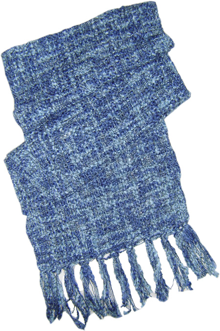 Light Blue Shades Melange Scarf