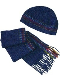 Scarf and Hat - Blue