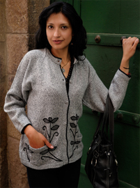 Embroidered Cardigan - Flowers