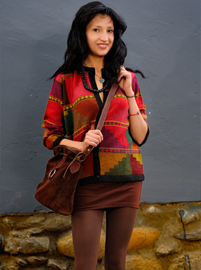 Multicolored Pyramids Cardigan