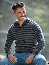 Striped Sweater - Gray