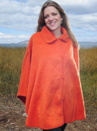 Alpaca Cape - Orange