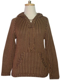 Brown Sweater - Vertical Stripes