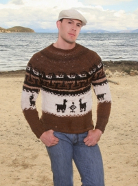 Rustic Sweater Llamitas
