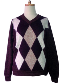 Brown Rhombus Sweater