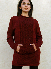 Beehive Sweater with Front Pocket