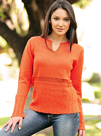 Orange Alpaca Sweater  - Fretwork