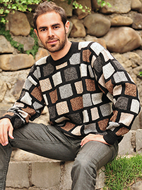 Multicolor Sweater - Gray - Brown - Black