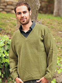 Green Alpaca Sweater