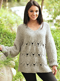Gray Alpaca Sweater
