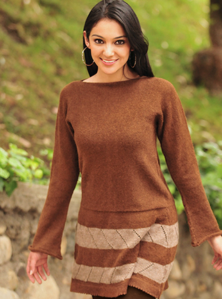 Brown Alpaca Dress