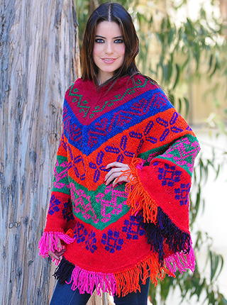 Multicolored Poncho