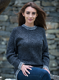 Gray Melange Sweater