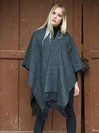 Rhombus Shawl - Charcoal