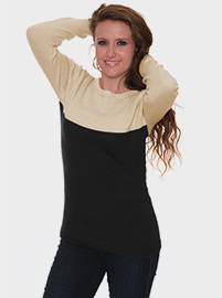 Maretta Alpaca Sweater  - Black and Beige