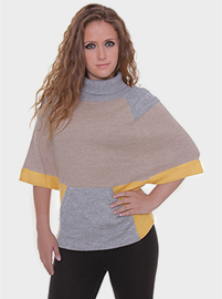 Nanna Butterfly Alpaca Blouse - Grey and Mustard