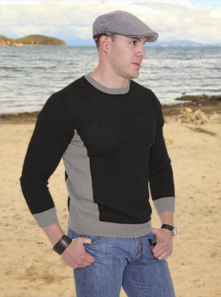 Heimdal Sweater - Black and Grey