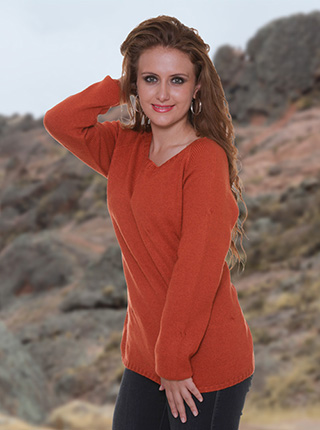 Orange Alpaca Sweater