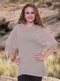Beige Alpaca Sweater -   3/4 Sleeve